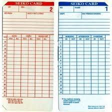 Thẻ chấm công các loại
